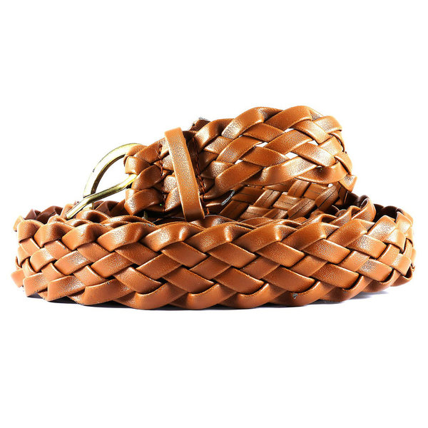 Women´s plaited belt  - light brown
